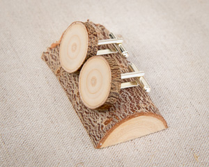Recycled Christmas Tree Branch Cufflinks