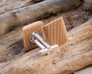 Beech Wood Cufflinks